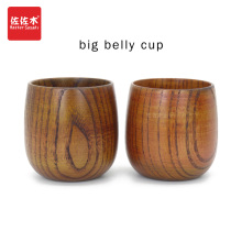 Купить с кэшбэком Europe/Japanese/Retro wooden cup belly cup handy cup hotel restaurant beer glass insulation Cup wholesale wooden lettering 7*7cm