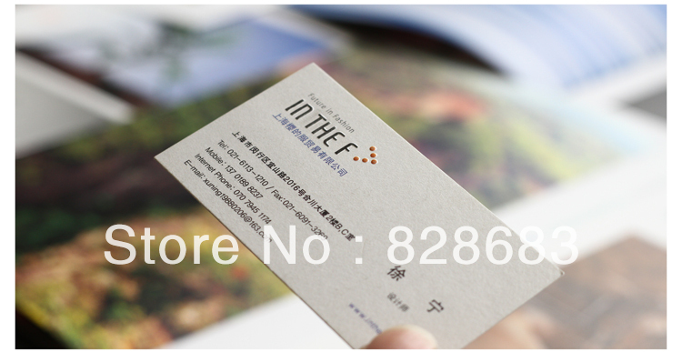 High quality Double faced full color printed Art paper Business membership card 500pcs
