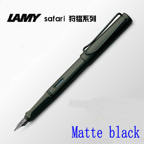 LAMY safari Matte black fountain pen (f) , Blue White Red Yellow Green Optional with Ordinary Gift Box  free shipping 70meter set 6mm spiral wrapping bands white black red yellow blue green grass green each 10meter