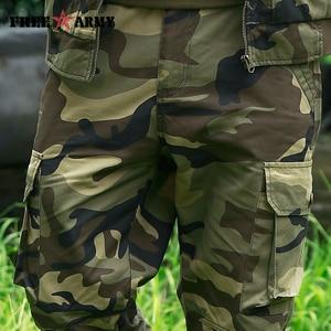 Image 5 - Freearmy marca cidade tático calças dos homens carga militar calças camo algodão muitos bolsos estiramento flexível homem casual 6xl