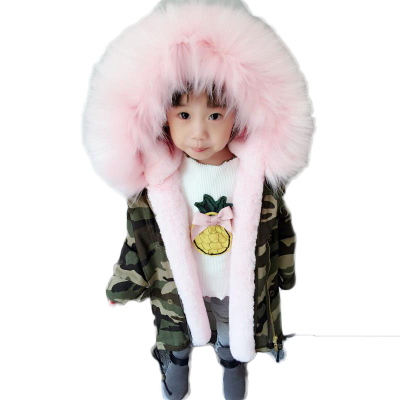 2018 New Fashion Winter Boys Girls Thicken Jackets Children Clothes Overcoats Baby Faux Fur Hooded Coats Kids Cotton Parkas G190 цена