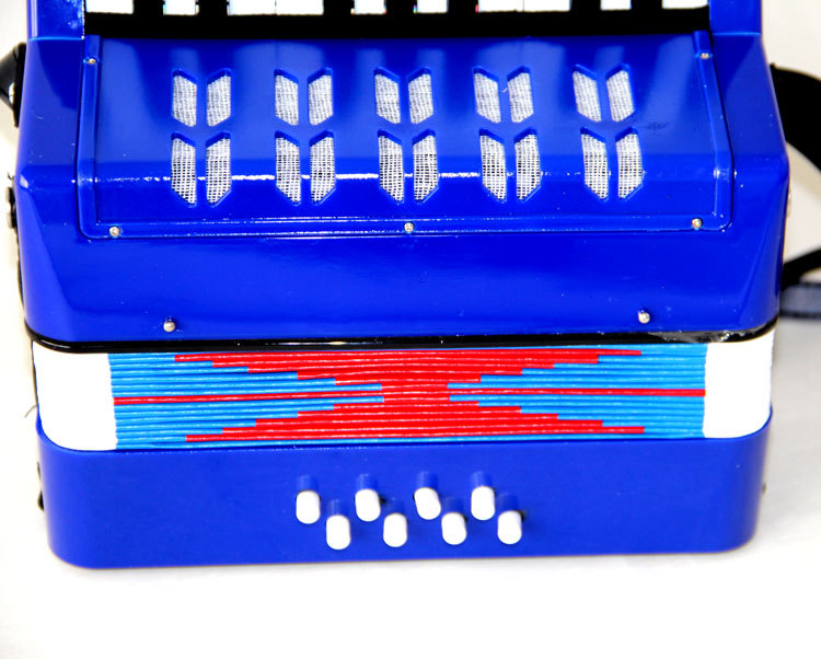 Small Electric Organ 17 Key 8 Bass Accordion Educational Musical Instrument Rhythm Band Toy for Children