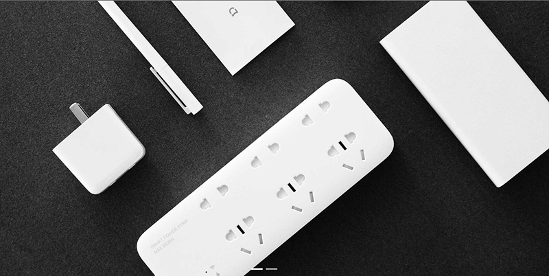 Original Xiaomi Mijia Smart Power Strip Intelligent 6 Ports Plug Socket WiFi Wireless Remote Power onoff with phone 2500W H25 # (3)