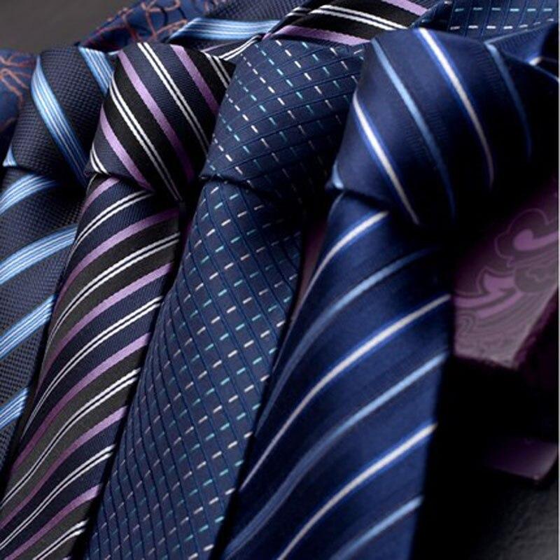WITH BOX 9CM Real 100% NATURAL SILK Tie For Men TIES Necktie Genuine Silk Man Tie Designer Fashion Blue Wedding Business PACKING