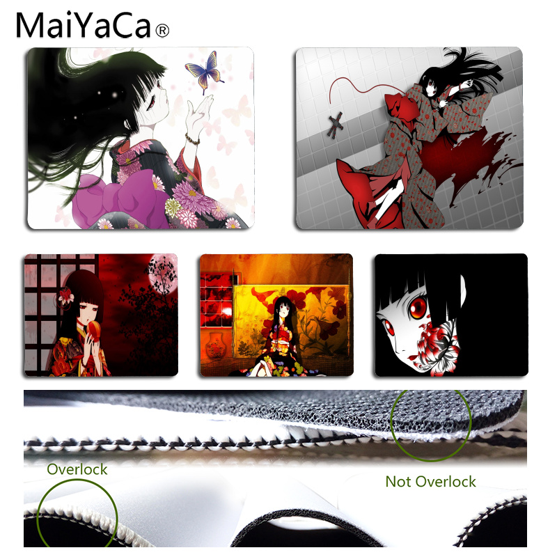 MaiYaCa Non Slip PC Hell girl Customized laptop Gaming mouse pad Size for 18x22cm 25x29cm Rubber Rectangle Mousemats