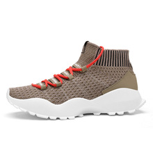 New Autumn Men Running Shoes Sock Flyknit Knit Breathable Lightweight Sneakers Trainer Outdoor Mesh Jogging Walking Sport Shoes