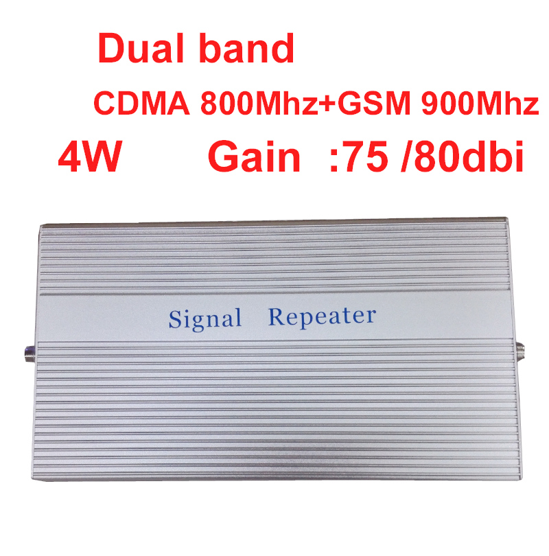 4W Work In Bad Signal Area -100dbm Repeater Gsm 900+CDMA 800Mhz Repeater Dual Band Signal Amplifer Signal Booster GSM Repeater