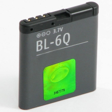 Original High Capacit BL-6Q phone battery for Nokia 6700 Classic 7900 970mAh