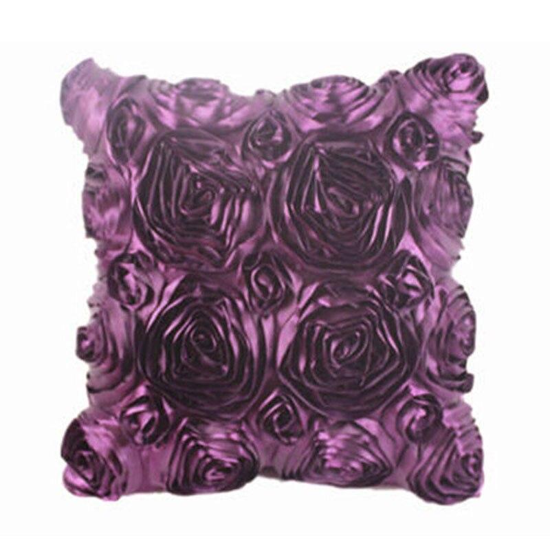 Fashion Floral Satin Pillowcase Decorative Satin Throw Sofa Pillow Case Cushion Home Pillowcase Cover Bed Pillowcases 40AP24 (5)