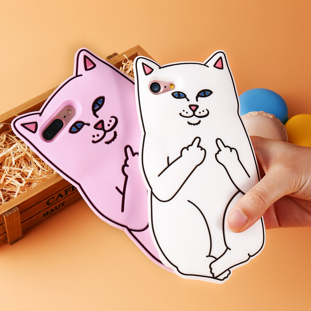 kisscase 3d pocket cat silicone case for iphone 5s 7 6 6s plus cute