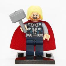 XINH004 Thor Minifigures Marvel Super Heroes The Avengers Building Block Sets Model Bricks Toys For Children