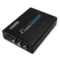 Mini HDMI To AV RCA Composite & S video Video R/L Audio Converter HDMI2AV Support 720P/1080P for DVD PS2 PS3 Xbox HDTV