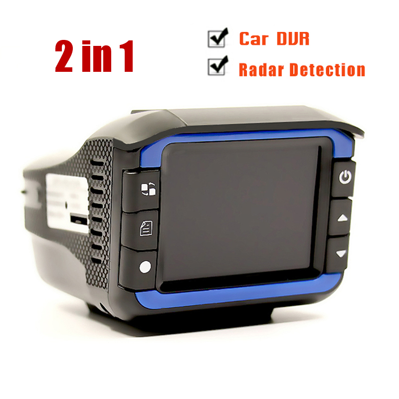 Russia or English voice 2 in 1 Car DVR car camera Anti Radar Detector 3 camera 4.0 inch screen HD 1080P G sensor Night Vision