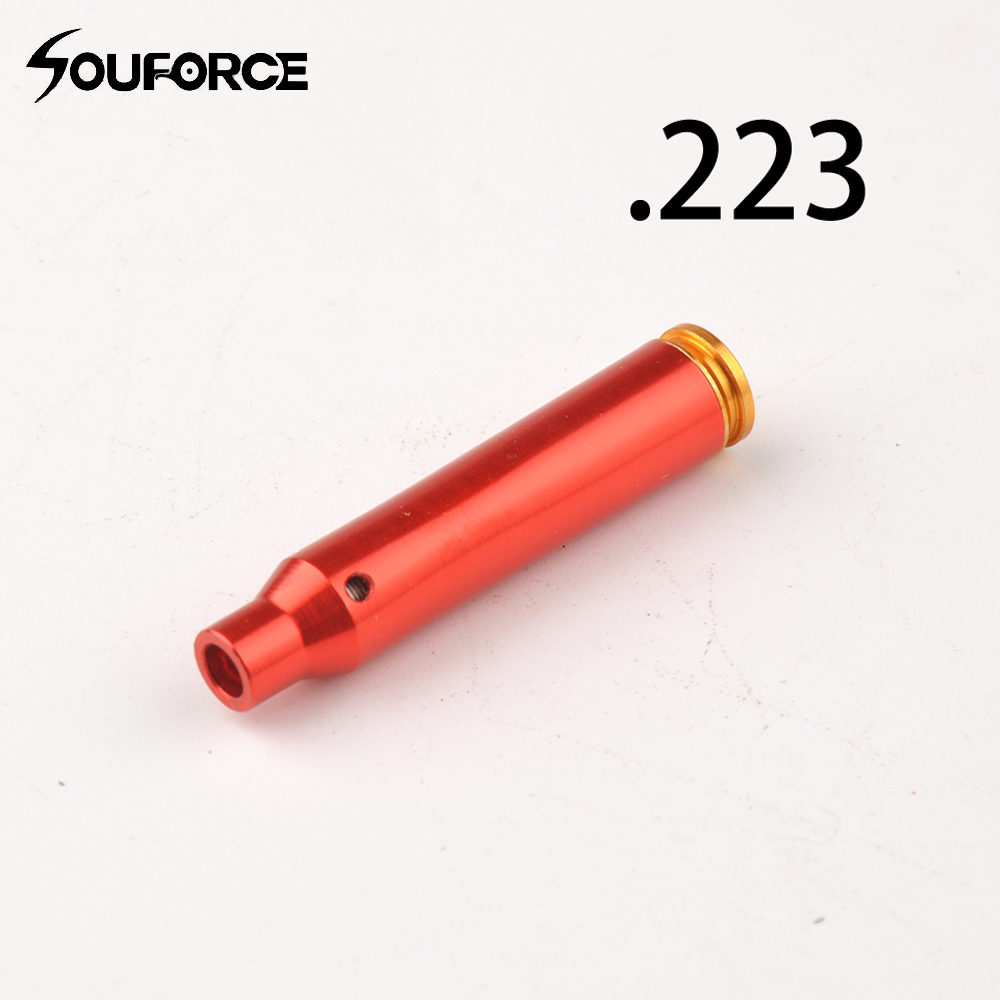 CAL:.223 REM Cartridge Red Dot Boresighter Aluminium Bullet Shaped Hunting Accessory