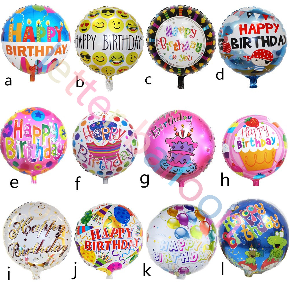 Globos Mixed batch happy birthday balloon  for kids birthday decorations party s
