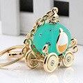 Regalos de navidad nuevo cristal de joyería de moda encanto del bolso llaveros llavero para las llaves llaveros cadena dominante del coche de la calabaza de Cenicienta