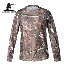MEGE Mens Compression Fitness Summer Bodybulding Camouflage Long Sleeve Shirt Quick Dry Breathable Tights Army Tactical T-shirt(China)