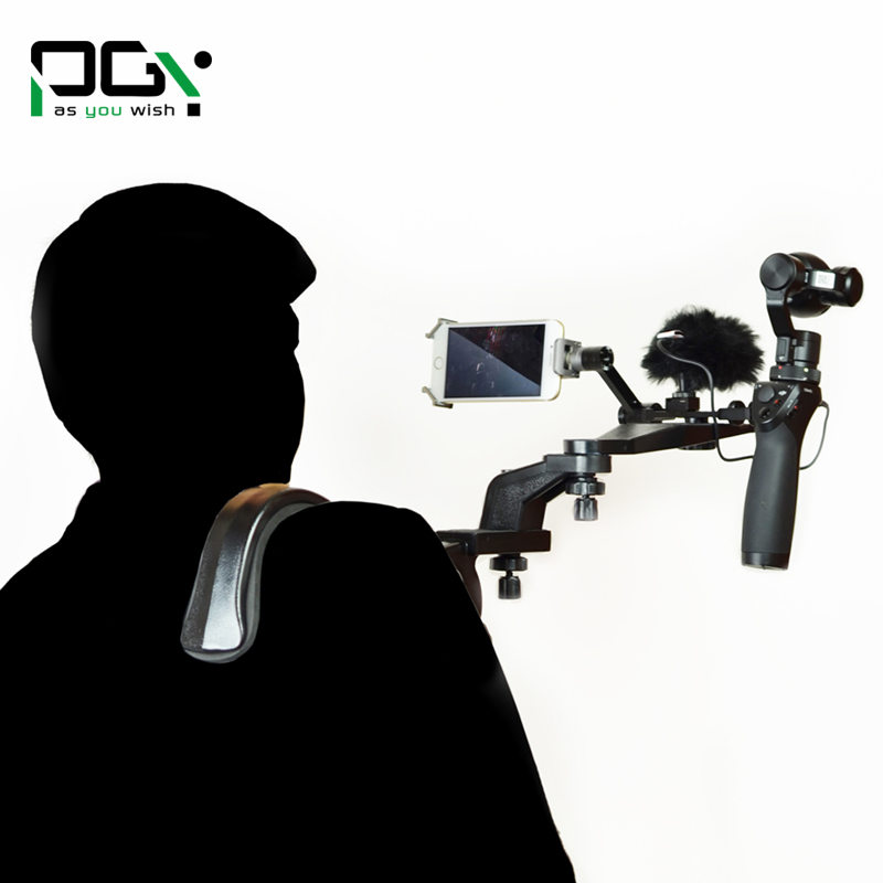 PGY DJI Osmo X5 X3 gimbal Accessories Shoulder Mount Holder Shooting Extendable arm Camera Hands free