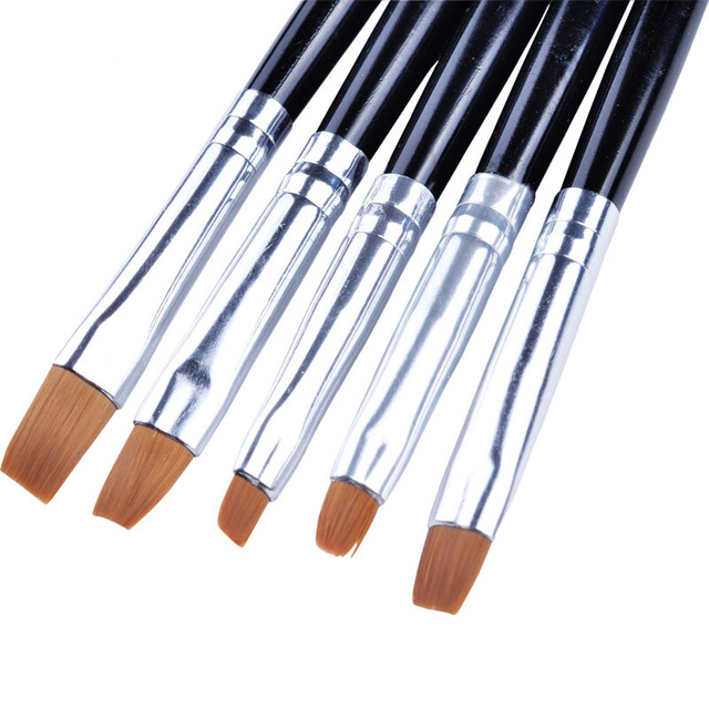 5pcsset Acrylic Uv Gel Nail Art Design Set Liner Painting Brush