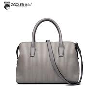 ZOOLER Luxury Handbags Women Bags Designer Fashion Genuine Leather Striped Small Bag 2017 New Cowhide Shoulder