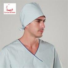 Printed operating room hat nurses cap doctors patients food unisex lace