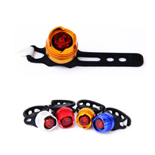 New LED Waterproof Bike Bicycle Cycling Front Rear Tail Helmet Red Flash Lights Safety Warning Lamp Cycling Safety Caution Light