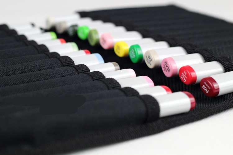 Folding marker pen bags for copic markers/marker pen case/can hold 36 pcs markers,freeshipping 14 213 светящаяся в темноте картина козерог