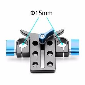 Image 3 - سبائك الألومنيوم 15 مللي متر المقربة عدسة دعم قوس حامل كاميرا حامل محول تمديد أنبوب كليب SLR DSLR تلاعب قضيب نظام Clmap