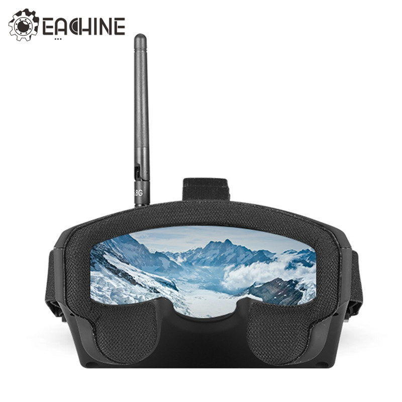 Eachine EV800 5 Inches 800x480 5.8G 40CH Raceband Auto-Searching FPV Goggle With Build-in Battery For FPV Racer Quadcopter Drone in stock new arrival eachine ev800 5 inches 800x480 fpv goggles 5 8g 40ch raceband auto searching build in battery