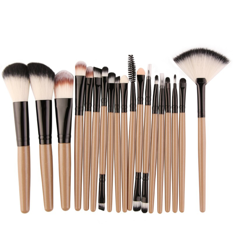 18 Pcs Makeup Maquiagem Brushes Tool Set Cosmetic Power Eye Shadow Foundation Eyeliner Lip Beauty Make up Brush Tools 8pcs rose gold makeup brushes eye shadow powder blush foundation brush 2pc sponge puff make up brushes pincel maquiagem cosmetic