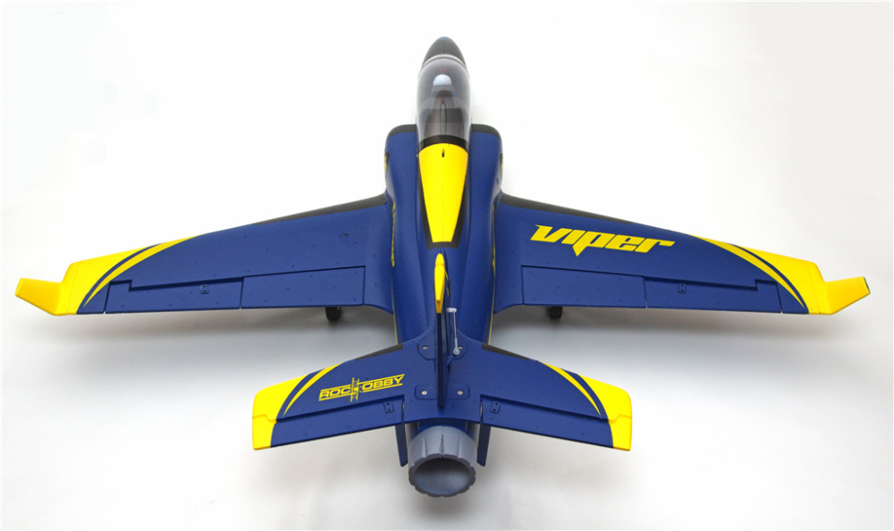 FMS 70mm Ducted Fan EDF Super Viper Jet Trainer Blue 6S with Retracts PNP RC Airplane Hobby Model Plane Aircraft Avion
