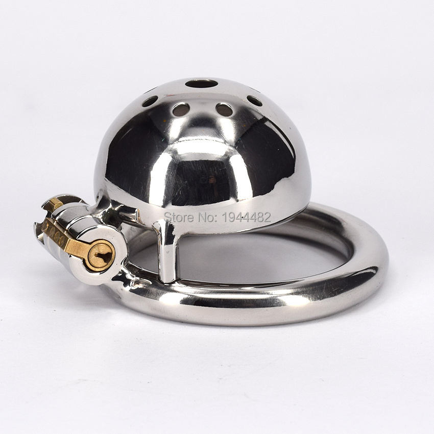 Buy SODANDY Super Short Chastity Device Metal Penis Lock Small Cock Cage Stainless Steel Chastity Belt Male Sex Toy Man Fetish