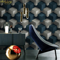 beibehang Wall paper Abstract Cube Plaid 3D Personality Wallpaper 3D Simple Modern Fashion TV Background Wall papel de parede