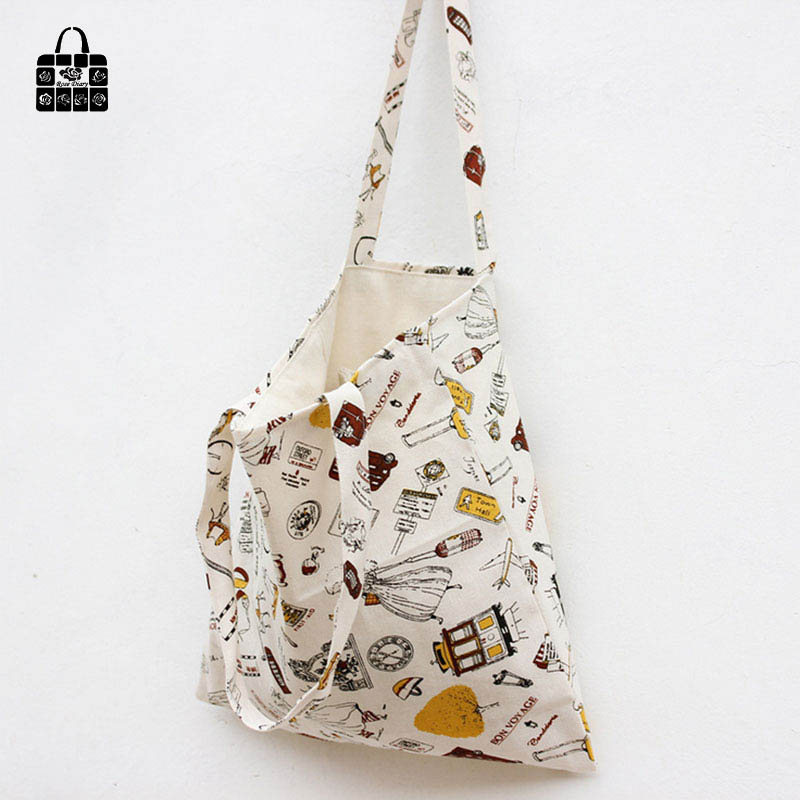 ROSEDIARY Fashion travel printing 100%cotton canvas Handbags large capacity Shoulder Shopping Beach Bags Women Girl Shoulder bag owl and floral print canvas bag women flowers handbags large capacity female shoulder bags single shopping bag casual beach bags
