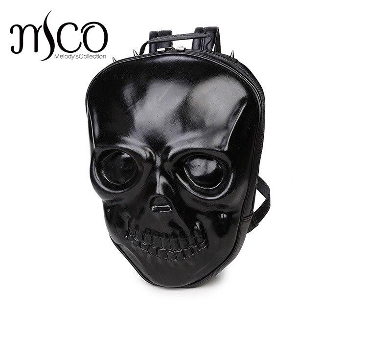 Restore 3D Skull Grimace Embossing Black Purse Satchel Backpack Halloween Cool Leather laptop Travel Soft BagsRestore 3D Skull Grimace Embossing Black Purse Satchel Backpack Halloween Cool Leather laptop Travel Soft Bags