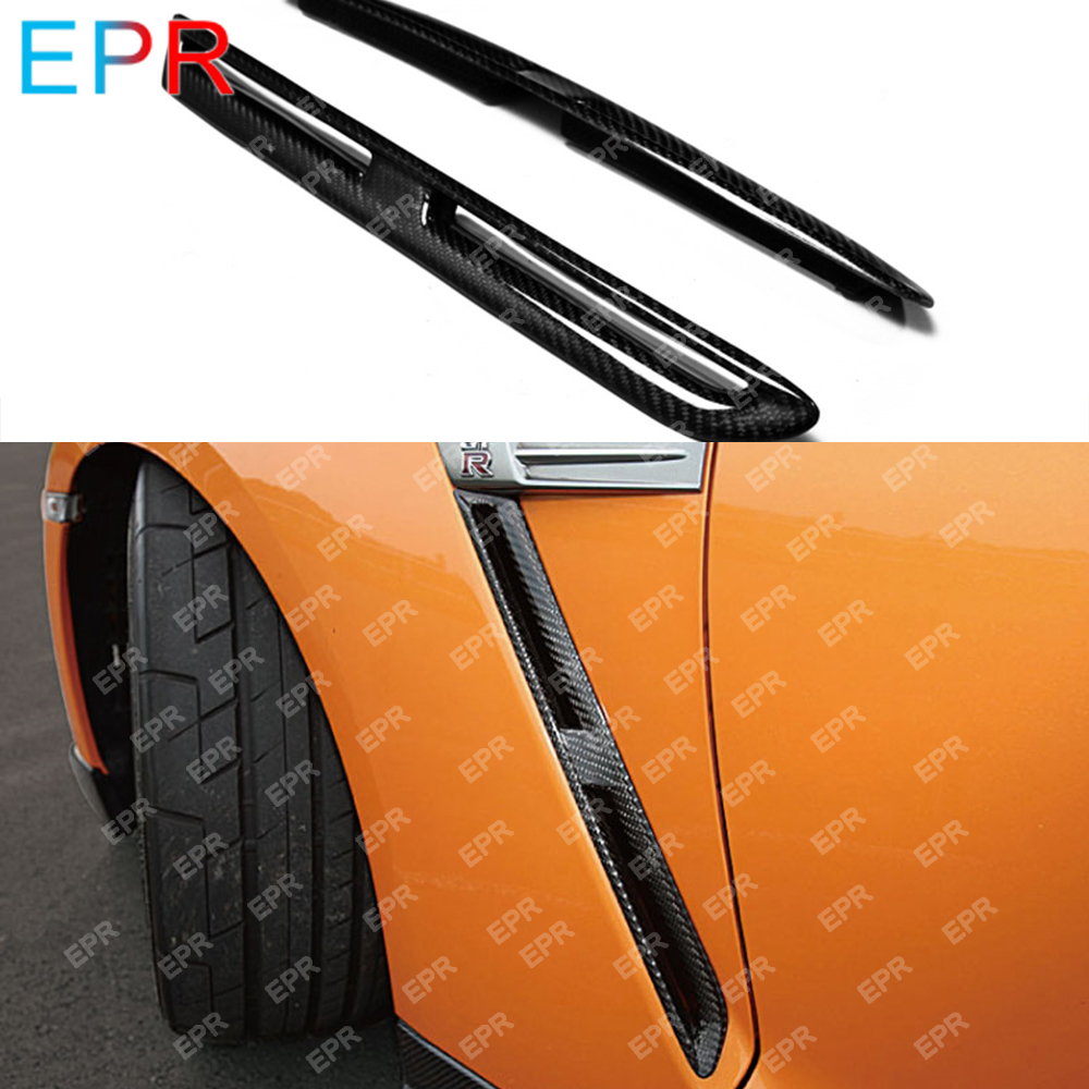 For Nissan GTR R35 OEM Carbon Fiber Front Fender Vents(Pairs) Body Kit R35 Tuning Part For R35 GTR Fender Vents
