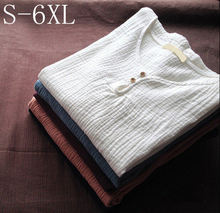 S-5XL 6XL Plus Size Casual Women Tshirt,2018 Spring long Sleeve cotton linen shirts,O Neck Tops Tees feminina camisetas