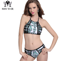 MANYIER Brand Bikini Swimwear Women Swimsuit New Design Bathing Suit Beachwear Push Up Maillot De Bain Mid Cut Bikini Set