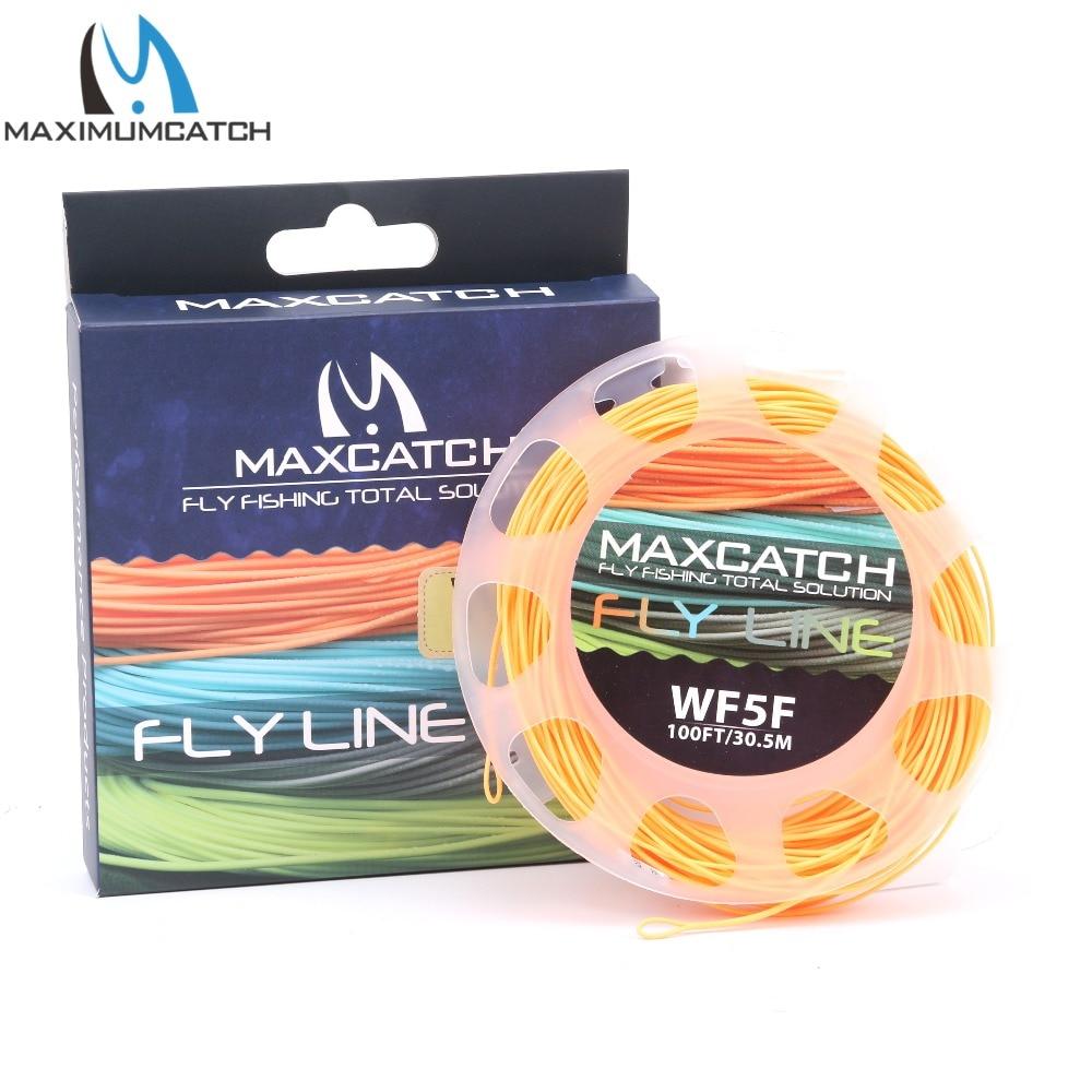 Maximumcatch 1-9wt Вес вперед плавающая рыболовная леска 100FT многоцветная леска с леской