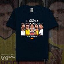 Mats Hummels camisa dos homens t camisas Alemanha jogador de futebol  estrela camiseta de algodão aptidão Os fãs camisetas roupas. 6faaacec73b44