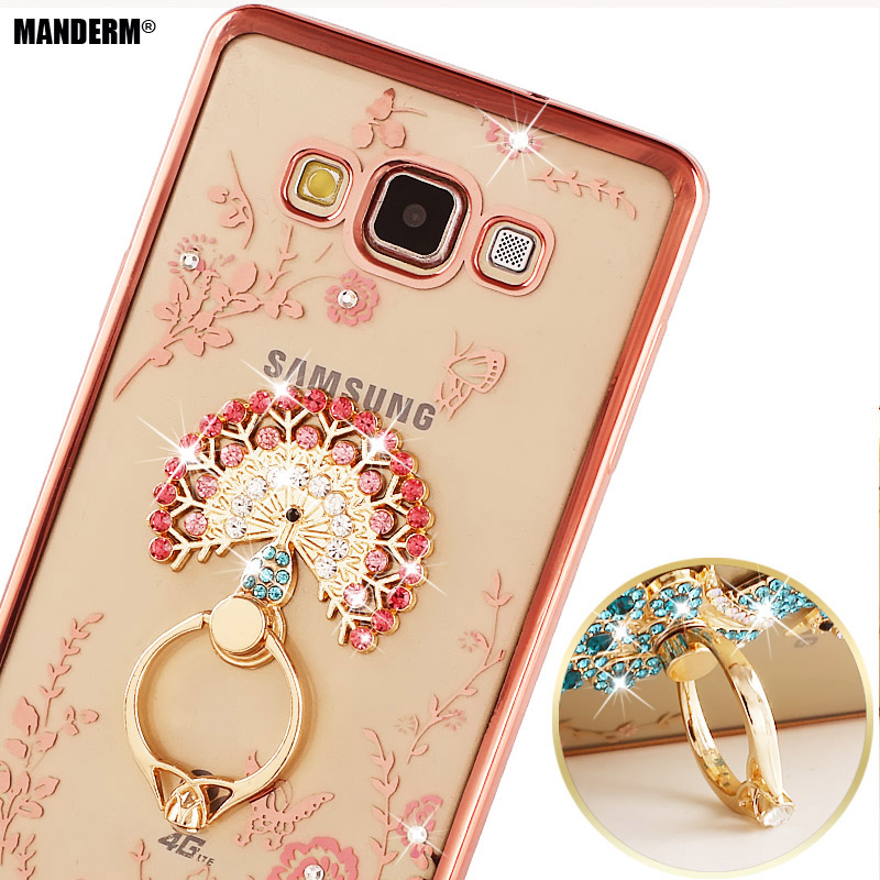 s3 i9300 Silicone Case Finger Rotated Ring Holder Stand For Samsung Galaxy S3 I9300 I9308 s3 neo Case Rhinestone Clear Cover