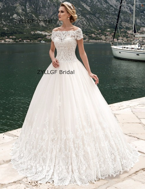 Short Wedding Dresses Off White Country Style
