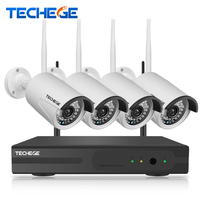 4CH Surveillance 1080P NVR 4pcs 1080P WIFI IP Camera 2 0MP CCTV Camera 4CH CCTV System