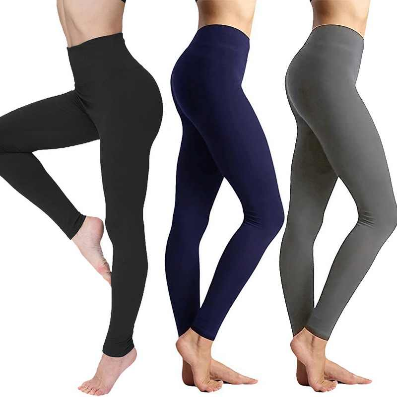 Vertvie Vrouwen Yoga Leggings Fitness Naadloze Tummy Yoga Broek Hoge Taille Workout Broek Slanke Gym Sportkleding Plus Size 3XL