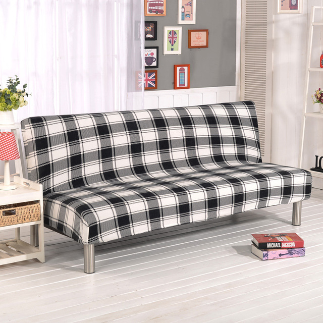 Wliarleo Plush Sofa Cover Fabric Without Armrest Velvet Elastic For Couch Thicker