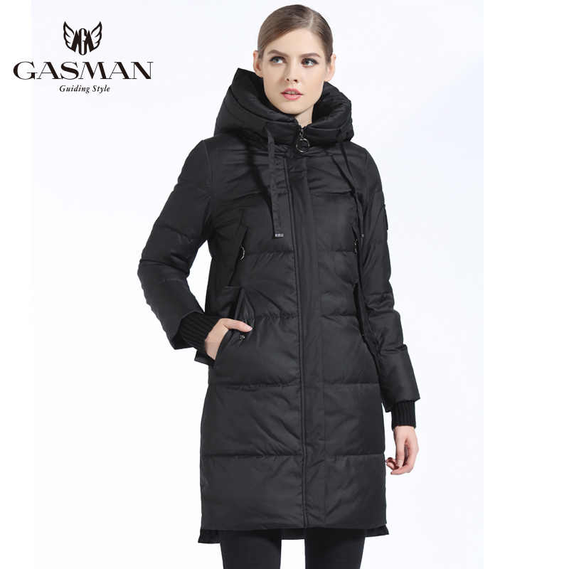 GASMAN 2019 Winter Vrouwen Bio Down Parka Merk Vrouwelijke Lange Winter Jas Voor Vrouwen Hooded Down Jacket Nieuwe Winter collectie