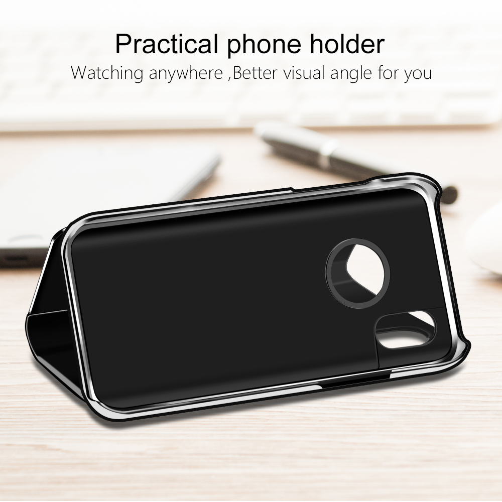 OLAF-Mirror-Flip-Leather-Case-For-iPhone-X-Smart-Clear-View-Phone-Case-For-iPhone-X(4)