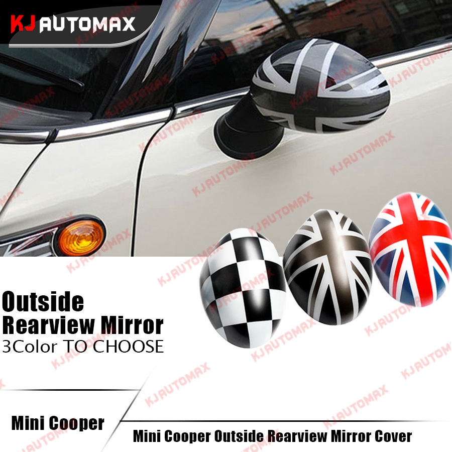 1 Pair MK2 Mini Cooper Rearview Side Mirror Cover Cap ABS Plastic For Manual Mirrors and