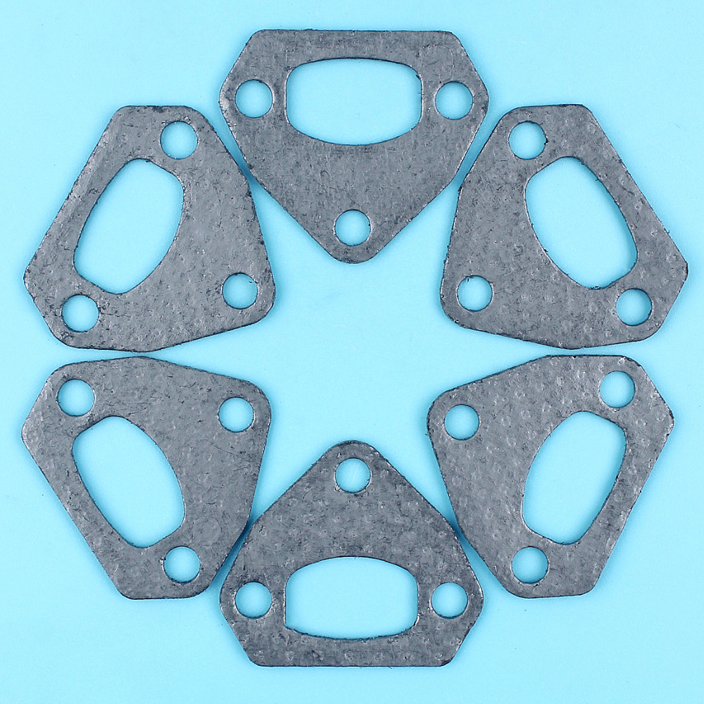 6 X Muffler Exhaust Gaskets For HUSQVARNA 36 41 136 137 141 142 Chainsaw Replacement Spare Parts