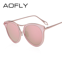 AOFLY BRAND DESIGN Women Polarized Sun Glasses Cat Eye Sunglasses Classic Vintage Mirror Shades Gafas Oculos